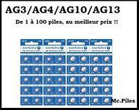 Piles boutons alcalineAG13 LR44 1.5V Everactive, livraison rapide et gratuite !!
