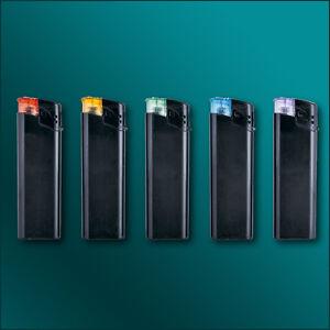 Elektronik-Feuerzeuge schwarz inkl. vollfarbigen Fotodruck/ Werbung/ Druck/ Logo