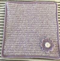 Hand made crochet dolls pram or cot blanket