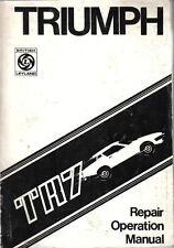 Triumph TR7 Original Repair Manual Workshop Manual 1975 USA market No. RTC 9200