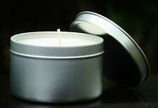 Large 40hr CASHMERE & MAHOGANY Scented ECO SOY CANDLE TIN Travel Camping Gifts