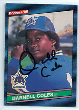 Darnell Coles signed 1986 Donruss baseball Seattle Mariners autograph #557