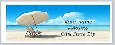 30 Personalized Return Address Labels Beach Buy 3 get 1 free (c855)