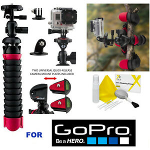 """12"""" FLEXIBLE QUICK RELEASE CARBON TRIPOD FOR GOPRO 5 BLACK GOPRO HERO SESSION"""