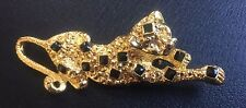 Vintage Leopard or Cat Brooch Pin