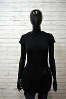 Vestito Nero Donna PATRIZIA PEPE Taglia XS Abito Dress Woman Tubino Corto Slim