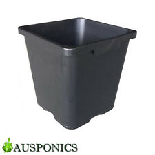 20x 18 LITRE 290MM SQUARE FLOWER BUCKET POT With Holes For Hydroponics