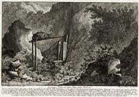 Antique Print-BADGER HUNTING-TRAP-CASE-M.E. Ridinger-J.E. Ridinger-1768