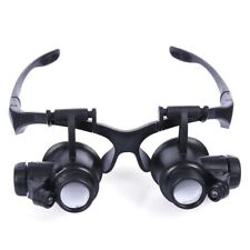 10X15X20X25X Magnifier Magnifying Eye Glass Loupe Jeweler Watch Repair + 2 LEDs