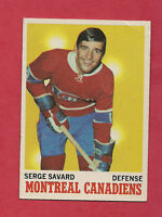 1970-71 TOPPS  # 51 CANADIENS SERGE SAVARD CARD
