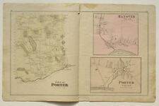 PORTER Village HANOVER Map Caldwell & Halfpenny Atlas Oxford County Maine 1880
