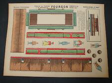 IMAGE D' EPINAL VOITURE TRAIN PARIS N°1091BIS FOURGON IMAGERIE PELLERIN ANCIENNE