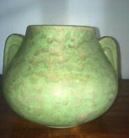 Unmarked Pottery Green Matte Glaze Vase