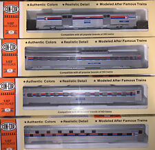 Con Cor HO Scale Amtrack Passenger Cars Unassembled 4 Set
