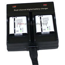 Dual Charger +2x Battery For Olympus Li-90B Li-92B Tough TG-1 TG-2 TG-3 iHS SH50