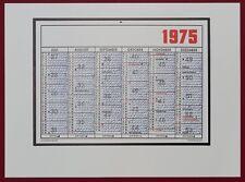 Hanne Darboven Kalenderblatt 1975 Offsetdruck 1979 handsigniert