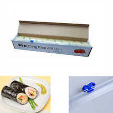 Kitchen Roll Catering Cling Film Food Baking Wrapping 450mm x 300m Cutter UKED