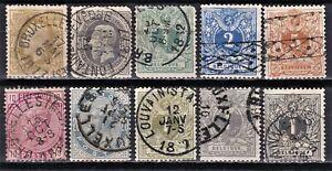 Belgium 1875-1885 used