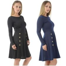 Machine Washable Plus Size Dresses for Women with Buttons