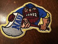 "NAU Northern Arizona Lumberjacks Vintage iron on embroidered patch 3"" X 2.5"""