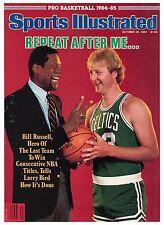 October 29, 1984 Larry Bird and Bill Russell Boston Celtics Sports Illustrated