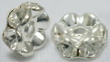 """Rhinestone Beads, Grade """"A"""",Brass, Rondelle, Size:about 6mm in diameter, hole:1m"""