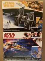 """Star Wars 10"""" Poe Dameron's X-Wing Fighter & Tie Fighter C2159 / E1451 By Hasbro"""