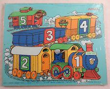 Playskool Play School Vintage Wooden Puzzle Playskool Cookie'S Number Train