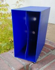 Schallplattenbox / Schallplattenständer ~ Vinyl LP Box ~ 70er Jahre ~ blau