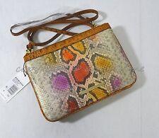 NWT! Brahmin Perri Crossbody/Shoulder Bag in Dark Rum Sol - Multicolor