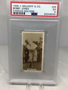 1928 Millhoff Famous Golfers #20 Bobby Jones PSA 5