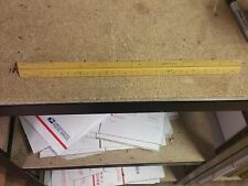 Vtg Architect's Scale Pearwood Drafting Triangular Ruler Us St'D West Germany