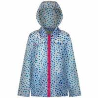 Regatta Epping Girls Kids Light Hooded Waterproof Jacket Rain Coat RRP £40