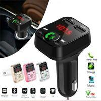 Wireless Bluetooth FM Transmitter Car AUX Radio MP3 Player Handsfree USB Charger