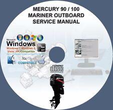 Mercury 90 US 100 EU Four Stroke EFI Mariner Outboard Service Repair Manual