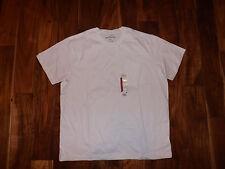 New Mens EDDIE BAUER White Pocket Basic T Shirt Size XXXL 3XL