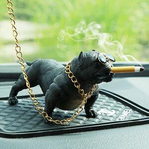 1xLifelike Bully Dog Car Interior Decoration Dashboard Ornament Decor-Black