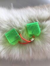 Vintage LOUIS VUITTON Neon Green Hair Resin Cube Elastic Ponytail Hair Tie