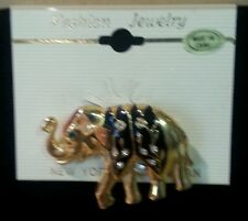 Elephant Pin with Crystals New