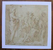 Disegno 'Jesus cura i malati; Cristiano' molla, inchiostro di china, Platini, 17. jhrdt