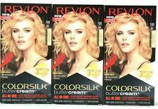 (3) Revlon Colorsilk Buttercream 100 Extra Light Natural Blonde Permanent Dye