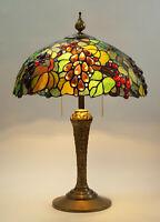 Prachtvolle original Jugendstil Tiffany Tischleuchte Messinglampe Berlin 1920