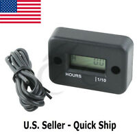 LCD Marine Digital Hour Meter Gauge For Gas Engine Motor Boat ATV Snowmobile FS1