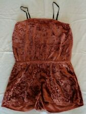 Rachel Roy Size Medium Cedar Velvet New Womens Romper Outfit