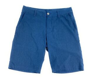 BKE Buckle Men's Ardmore Athletic Fit Hybrid Stretch Blue Golf Casual Shorts 33