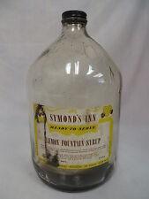 VINTAGE SYMOND'S INN LEMON SODA FOUNTAIN SYRUP BOTTLE UNITED REXALL DRUG