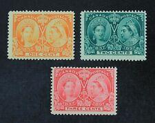 Ckstamps: Canada Stamps Collection Scott#51 52 Mint Nh Og #53 H Gum Crease