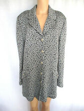 St. John Collection Women's Jacket Blazer Sweater Size 16 Gray & Black