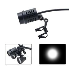 50000 Lux Led Headlight Spotlight For Dental Loupes With Clips Rechargeable Power