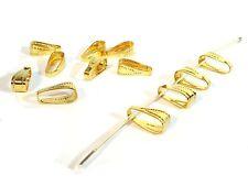 Collierschlaufen Schmuckschlaufen Anhänger Gold #z255